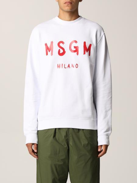 Msgm uomo: Felpa Msgm con logo