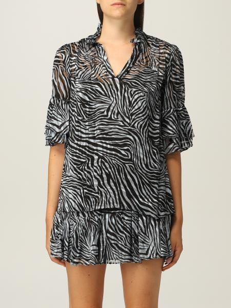 Michael Kors: Michael Michael Kors blouse with animal print