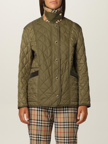 Burberry diamond quilted jacket with corduroy collar