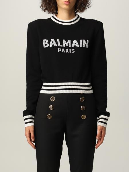 Balmain donna: Maglia Balmain con logo