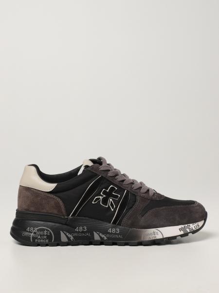 Premiata men: Lander Premiata sneakers in nylon and suede