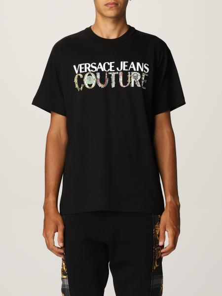 Versace Jeans Couture uomo: T-shirt Versace Jeans Couture in cotone con logo