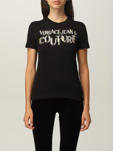 Versace Jeans Couture cotton t-shirt with lurex logo