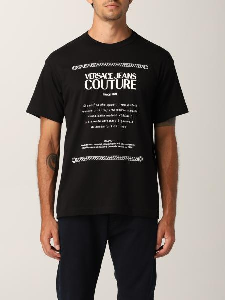 Versace Jeans Couture uomo: T-shirt Versace Jeans Couture in cotone con stampa