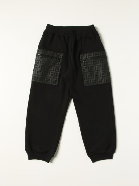 Pantalone jogging Fendi in cotone
