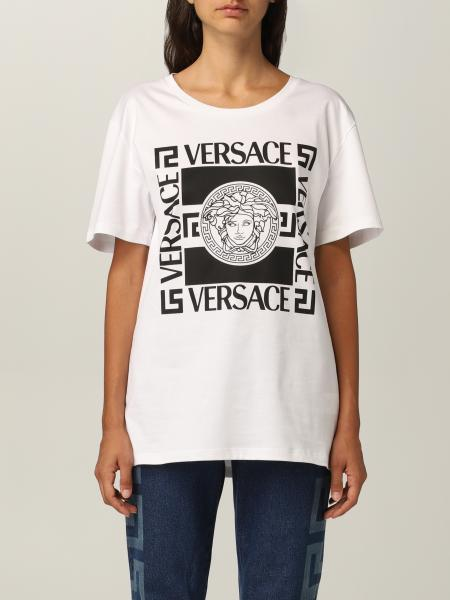 Versace cotton T-shirt with Medusa print and logo