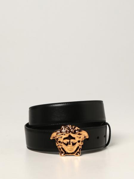 Versace belt in calfskin with Medusa