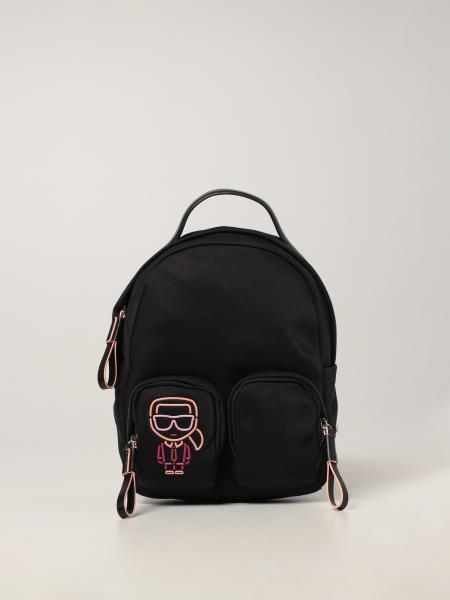 Karl Lagerfeld: Karl Lagerfeld backpack in recycled nylon