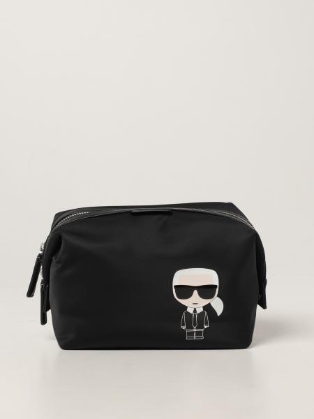 Karl Lagerfeld: Karl Lagerfeld beauty case in recycled nylon