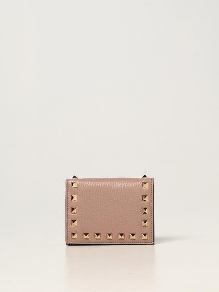 Portafoglio Rockstud Valentino Garavani in pelle con borchie