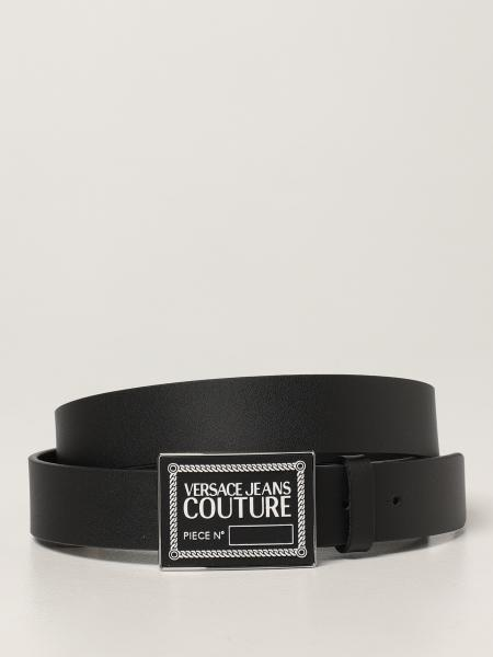 Versace Jeans Couture uomo: Cintura Versace Jeans Couture in pelle gommata