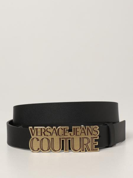 Cintura Versace Jeans Couture in pelle gommata