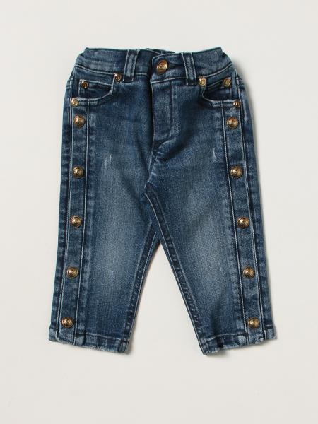 Jeans Balmain a 5 tasche con bottoni metallici