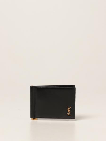 Saint Laurent men: Saint Laurent leather wallet with logo