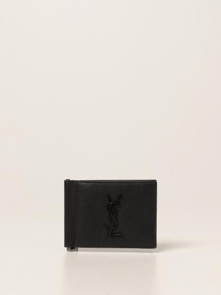 Saint Laurent men: Saint Laurent wallet in grain de poudre leather