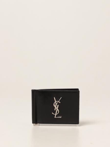 Saint Laurent men: Saint Laurent wallet in leather with logo