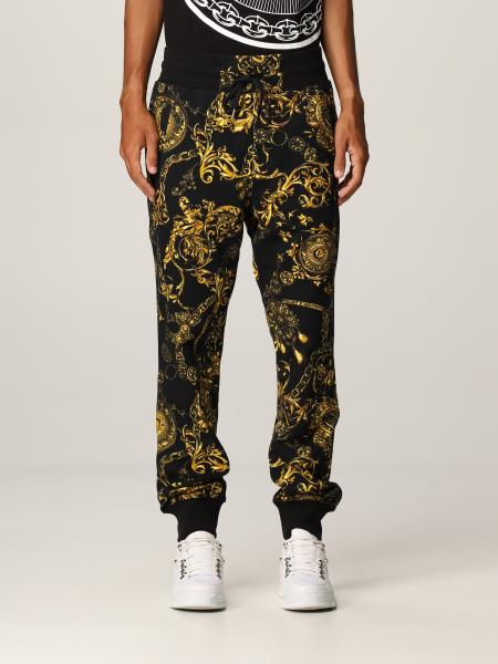 Versace Jeans Couture uomo: Pantalone Versace Jeans Couture con stampa Regalie Baroque