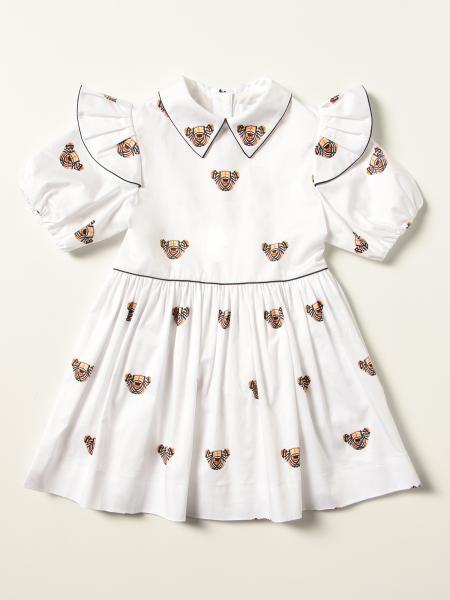 Burberry stretch cotton dress with Thomas bear motif