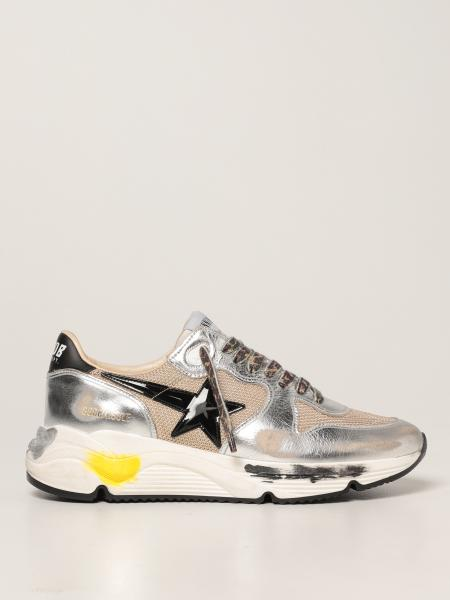 Golden Goose men: Golden Goose Running Sole trainers in laminated leather