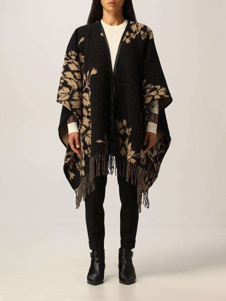 Etro: Etro cape with floral motif