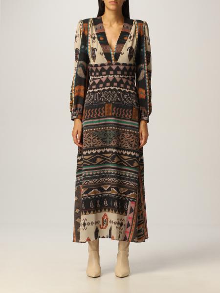 Etro: Long Etro dress with geometric patterns