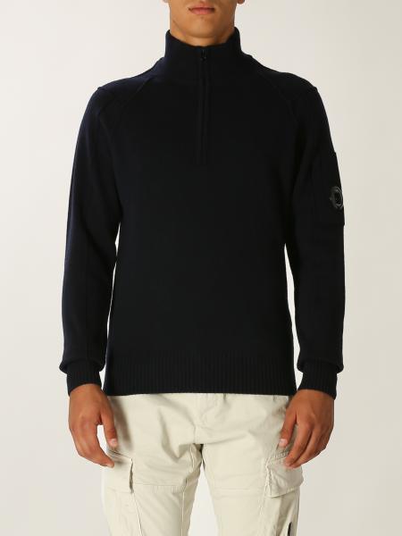 Cardigan C.P. Company in lana con lente logata