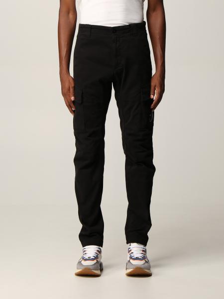 Pantalone C.P. Company in cotone Stretch Sateen con lente logata