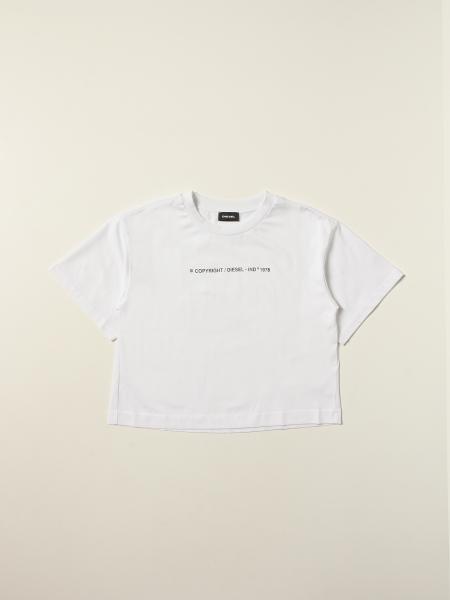 T-shirt Diesel in cotone con scritta Copyright
