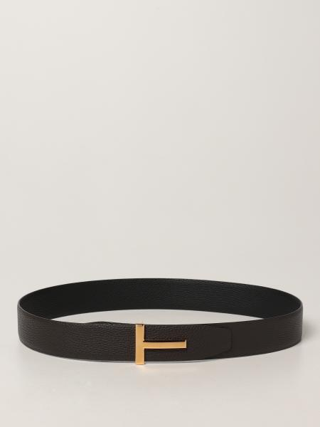 Tom Ford reversible belt in hammered leather