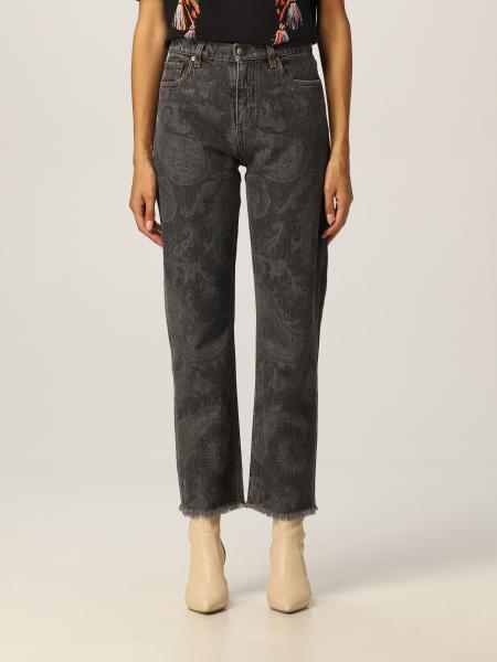 Etro: Etro jeans in denim with paisley print