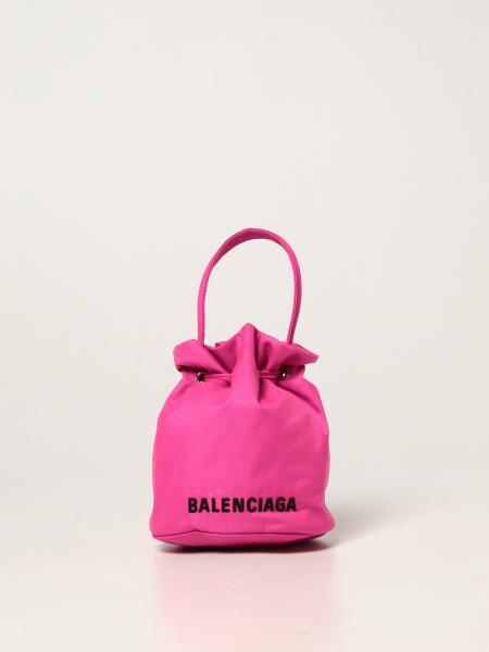 Balenciaga women: Balenciaga bucket bag in nylon