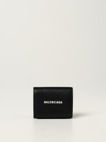Balenciaga: Portafoglio Balenciaga in pelle martellata con logo