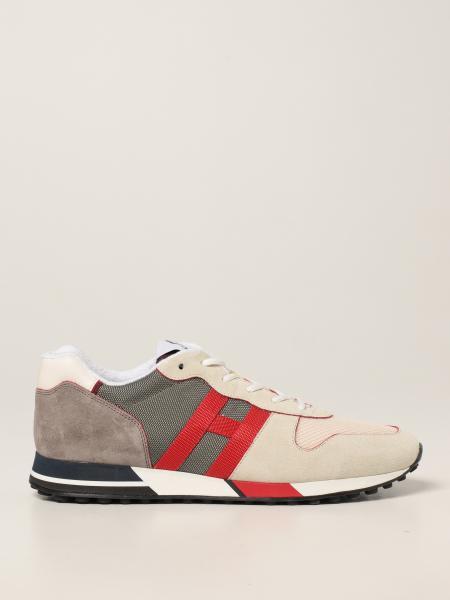 Sneakers H383 Hogan in tessuto e camoscio