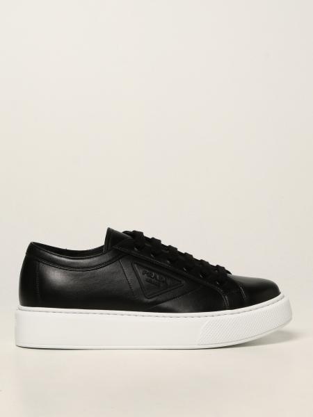 Prada men: Prada leather sneakers