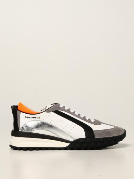 Dsquared2 uomo: Sneakers Legend Dsquared2 in pelle e camoscio