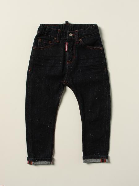 Jeans a 5 tasche Dsquared2 Junior con logo