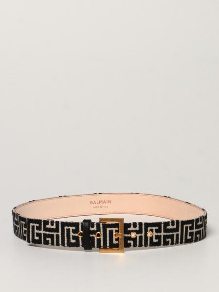 Cintura Balmain in tessuto monogram
