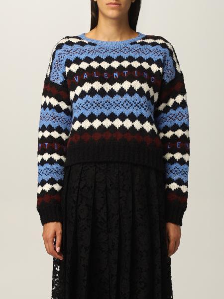Maglia Valentino in lana con logo ricamato