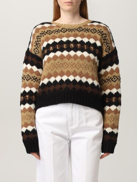 Valentino: Maglia Valentino in lana con logo ricamato