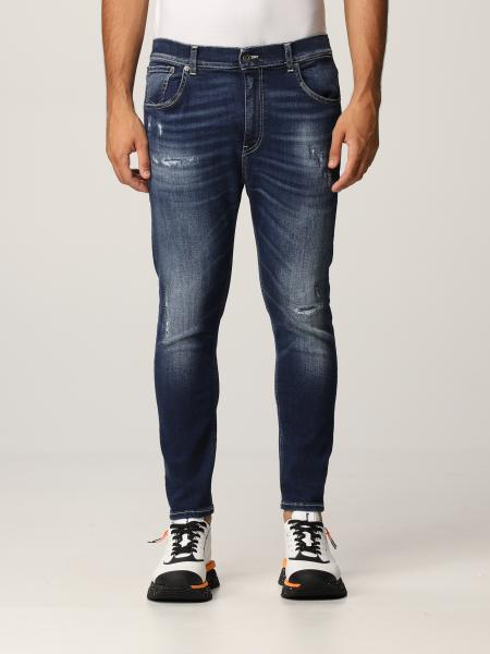 Jeans Dondup in denim washed con rotture