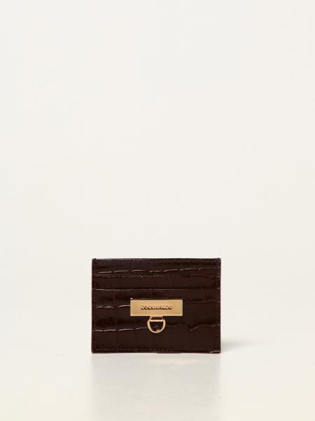 Dsquared2 men: Dsquared2 credit card holder in crocodile print leather
