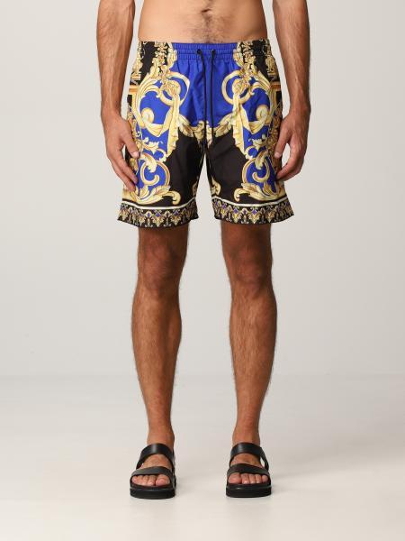 Versace men: Versace costume with Le Pop Classique print