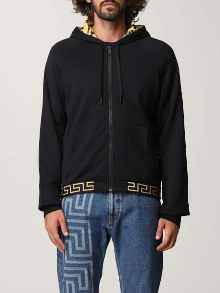 Versace men: Versace jumper in nylon and cotton