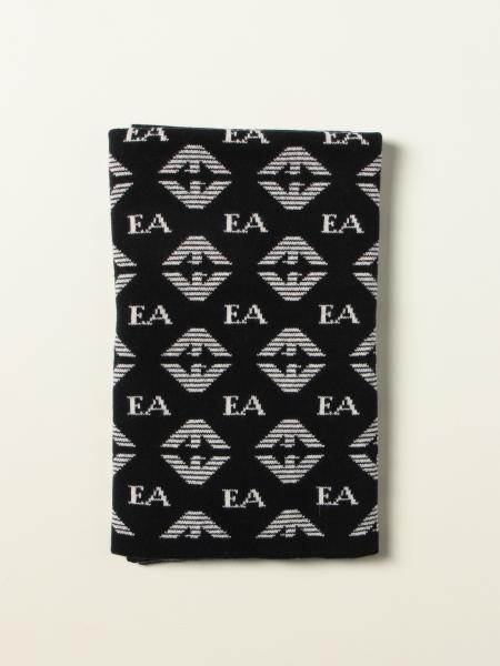 Emporio Armani scarf with all over logo