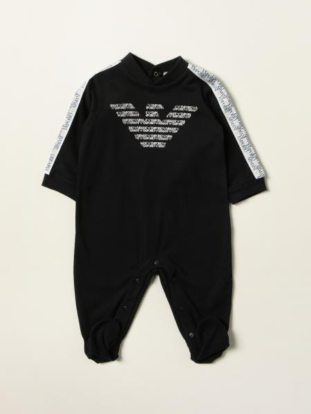 Emporio Armani footed jumpsuit with logo