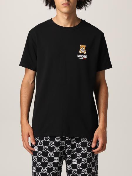 Moschino: T恤 男士 Moschino Underwear