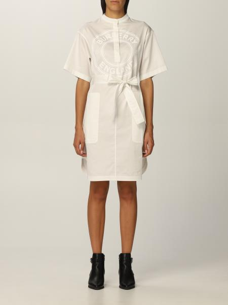 Burberry shirt dress in cotton twill with graphics