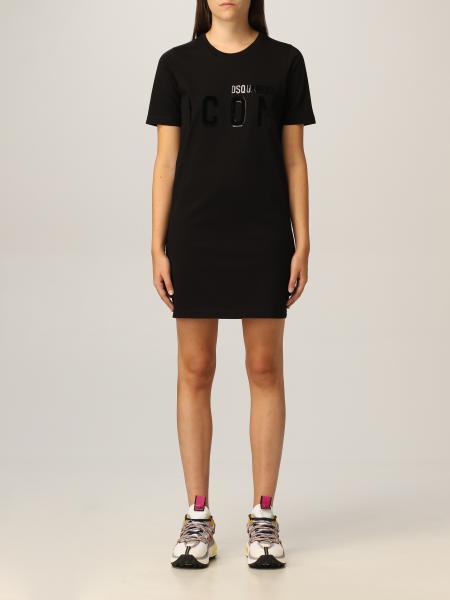 Dsquared2 女士: Dsquared2 Icon Logo T 恤连衣裙