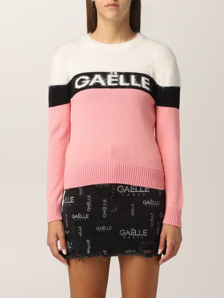 Maglione Gaëlle Paris in misto lana con logo intarsiato