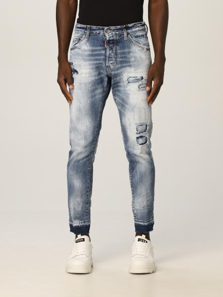 Jeans Cool Guy Dsquared2 in denim washed con rotture